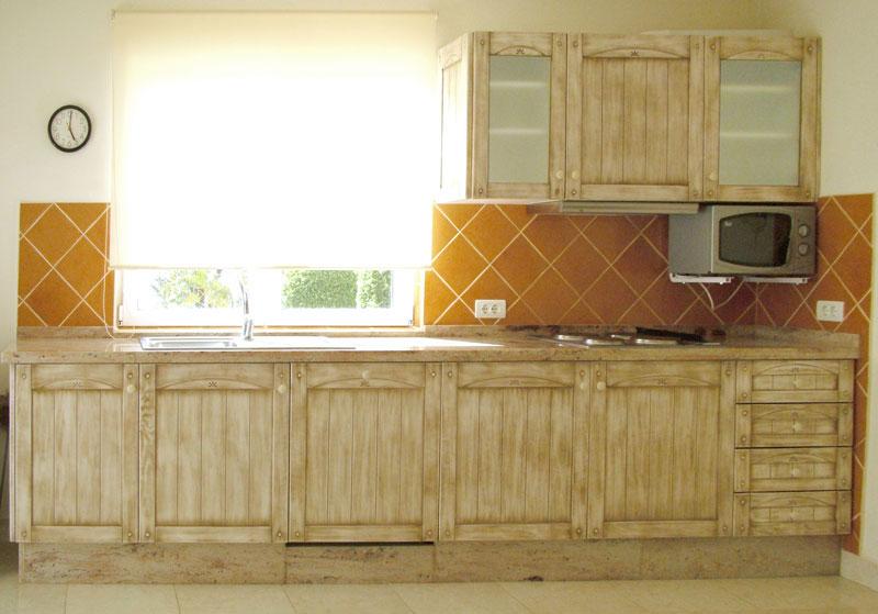 cocina puertas de pino diseo rustico