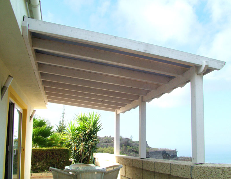 Carpinter a tenerife techos y exteriores de madera for Techos para patios exteriores