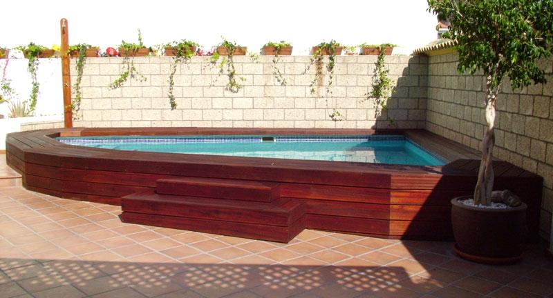 Carpinter a tenerife techos y exteriores de madera - Piscinas de madera semienterradas ...