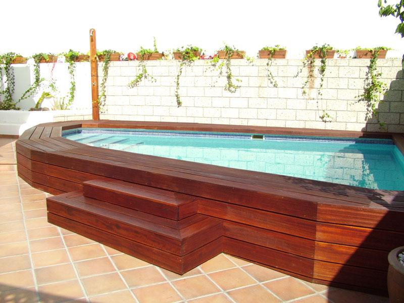 Carpinter a tenerife techos y exteriores de madera for Estructura para piscina