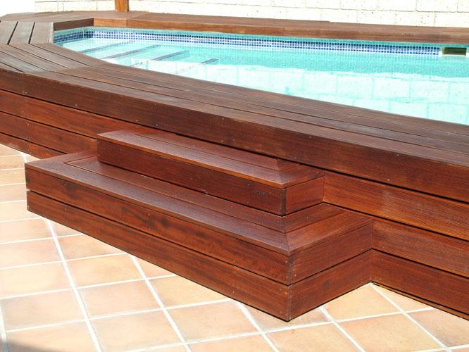 Carpinter a tenerife techos y exteriores de madera for Gradas para exteriores