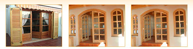 Carpinter a tenerife puertas de madera acristaladas - Puertas acristaladas exterior ...